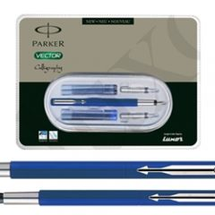 PARKER - Parker Vector Standard Calligraphy CT Fountain Pen (Blue)