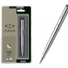 PARKER - Vector Stainless Steel CT Ball Pen
